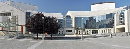 Slovak National Theatre. (slovak: Slovenske narodne divadlo), panorama photo. Bratislava, Slovakia stock image