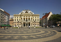 Slovak national theatre in Bratislava. Slovakia Royalty Free Stock Photos