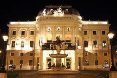 Slovak national theatre - Bratislava, Slovakia. Royalty Free Stock Photography