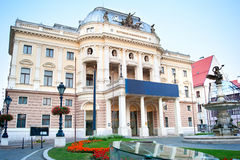 Slovak National Theatre. In Bratislava, Slovakia. It was founded in 1920 stock photo