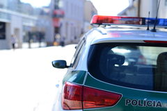 Slovak Police. Photo with Slovak police car stock images