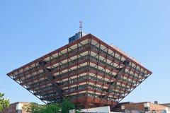 Slovak Radio building in Bratislava royalty free stock photo
