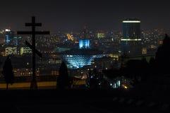 Slovak Radio Building at night. royalty free stock image