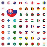 Slovak Republic round flag icon. Round World Flags Vector illustration Icons Set. Slovak Republic round flag icon. Round World Flags Vector illustration Icons Royalty Free Stock Image