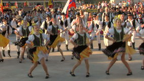Slovak traditional dance at the International Folklore Festival stock video footage