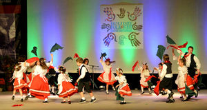 Slovak Youth Dancers Royalty Free Stock Photo