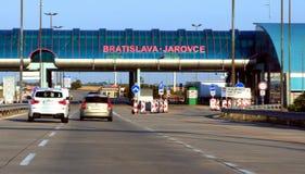 Slovakia-Austria border. Bratislava border between Austria and Slovakia royalty free stock photos