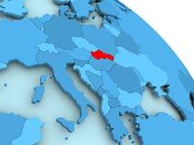 Slovakia on blue globe. Slovakia highlighted on blue 3D model of political globe. 3D illustration Royalty Free Stock Photo
