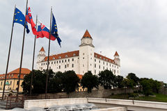 Slovakia, bratislava castle hill with castle Royalty Free Stock Photos