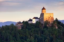 Slovakia castle, Stara Lubovna stock image