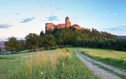 Slovakia castle, Stara Lubovna stock photography