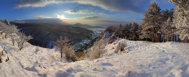 Slovakia country landscape panorama at winter Royalty Free Stock Photos