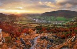Slovakia countryside - Autumn mountain panorama - Nice village O Stock Photography