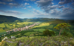 Slovakia countryside - Summer mountain panorama Stock Image