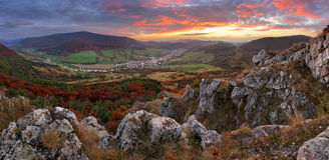 Slovakia countryside - Summer mountain panorama - Nice village O Royalty Free Stock Images
