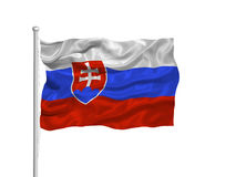Slovakia Flag 3 Royalty Free Stock Photos