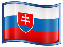 Slovakia Flag icon Stock Photo