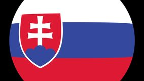 Slovakia Flag Transition 4K. Smooth and Elegant flag animation with alpha matte. Great 2D look that is perfect for any kind of videos dealing with a world view stock illustration