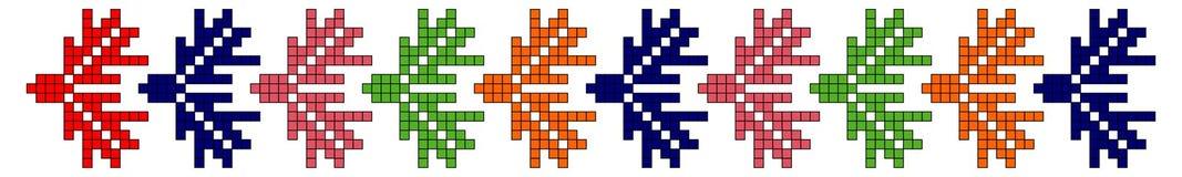 Slovakia folk motifs. Slovakia traditional ethnic folk costume motif pattern Stock Photo