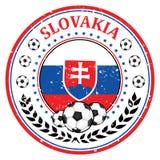 Slovakia football label / sticker Royalty Free Stock Photos