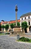 slovakia fyrkantig towntrencin royaltyfri bild