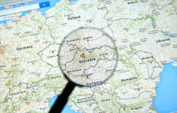 Slovakia on Google Maps Royalty Free Stock Photo