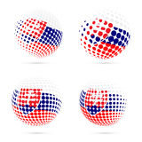 Slovakia halftone flag set patriotic vector. Stock Images
