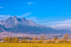 Slovakia high mountain view. In fall Royalty Free Stock Photo