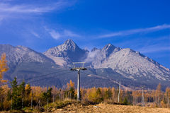 Slovakia high mountain view. In fall Royalty Free Stock Image