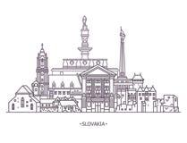 Slovakia historical monuments royalty free illustration