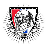 Slovakia ice hockey shield Stock Images