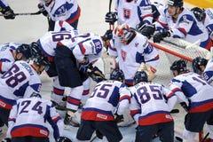 Slovakia ice hockey team Royalty Free Stock Photos