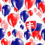 Slovakia Independence Day Seamless Pattern. Royalty Free Stock Photos
