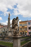 Slovakia, Kosice. Main Street. Statue of Immaculata. City landscape. Royalty Free Stock Photography