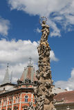 Slovakia, Kosice. Main Street. Statue of Immaculata. City landscape. Royalty Free Stock Photos
