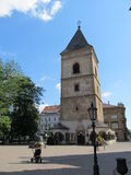 Slovakia Kosice. Square in Kosice with the old tower in the middle of Royalty Free Stock Images