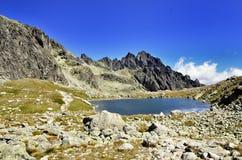 Slovakia lake. High Tatra, big mountains Stock Photos