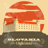 Slovakia landmarks. Retro styled image Stock Photos