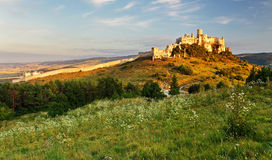 Slovakia landscape with Spissky castle Royalty Free Stock Photos
