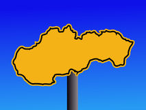 Slovakia map sign Royalty Free Stock Photo