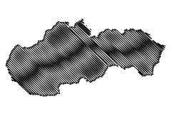 Slovakia map vector Stock Image