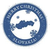 Slovakia map. Vintage Merry Christmas Slovakia. Slovakia map. Vintage Merry Christmas Slovakia Stamp. Stylised rubber stamp with county map and Merry Christmas Royalty Free Stock Photos