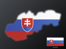 Slovakia modern halftone Royalty Free Stock Images