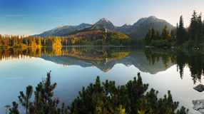 Slovakia mountain lake in High Tatra Royalty Free Stock Photography