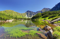 Slovakia mountain lake - Rohacske plesa Stock Photography