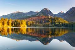 Slovakia Mountain Lake in Tatra - Strbske Pleso Stock Images