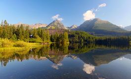 Slovakia Mountain Lake in Tatra - Strbske Pleso Royalty Free Stock Images