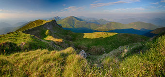 Slovakia mountain from peak Chleb Royalty Free Stock Photography