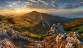 Slovakia mountain from peak Chleb stock images