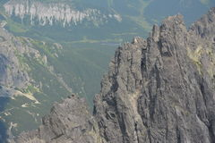Slovakia mountains. With climbers and mountaineers Stock Image